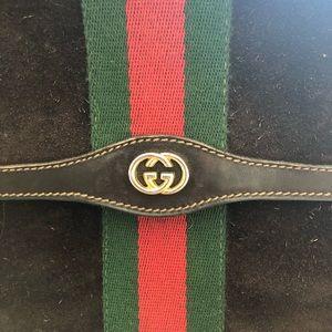 Vintage Brown Suede Gucci Clutch